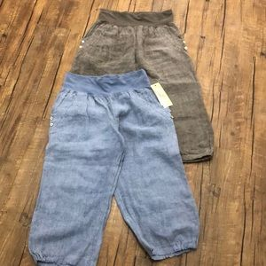 Linen Capris Size Small - 2 Pairs NEW